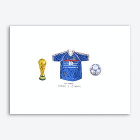 France World Cup 1988 Art Print