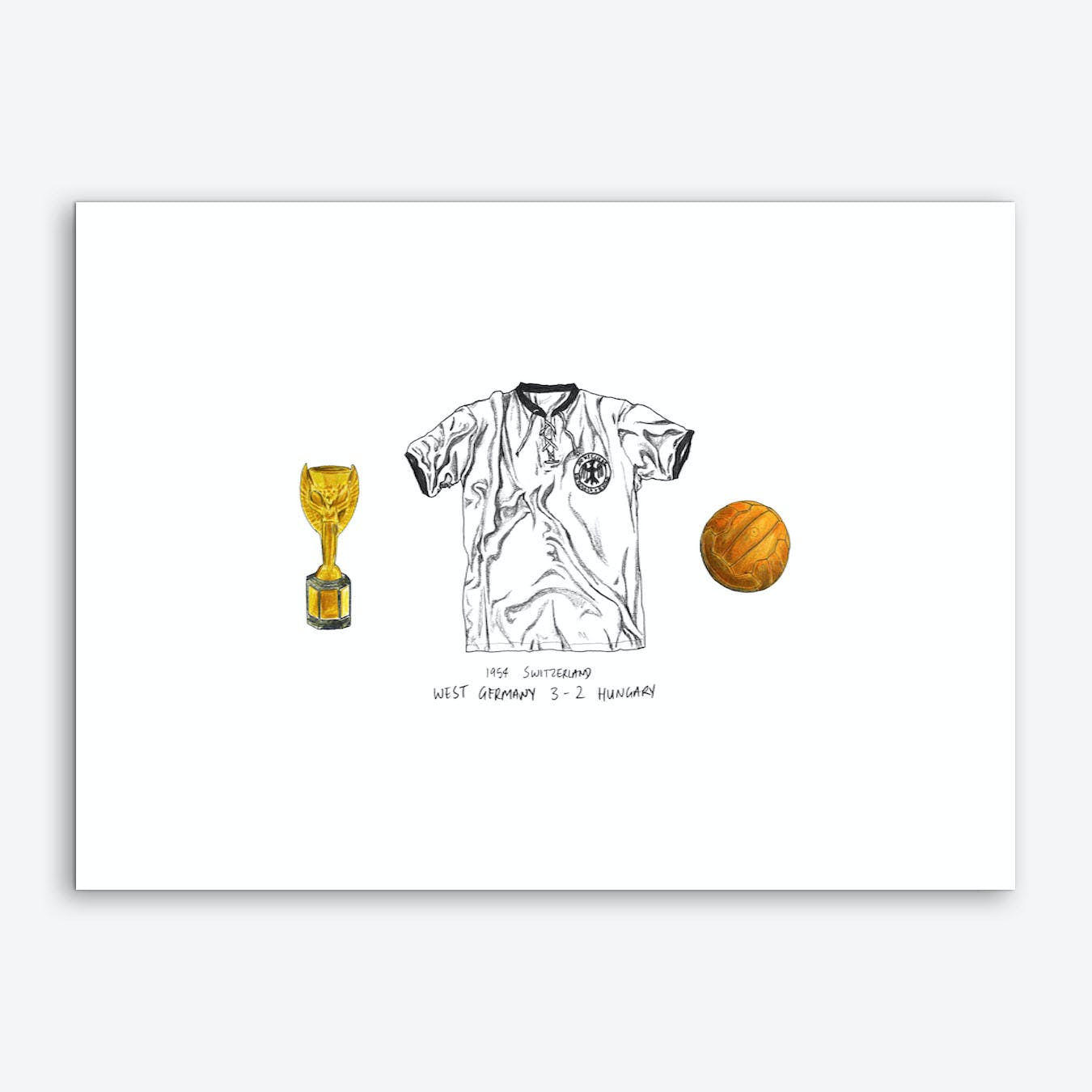 Germany World Cup 1954 Art Print
