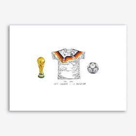 Germany World Cup 1990 Art Print