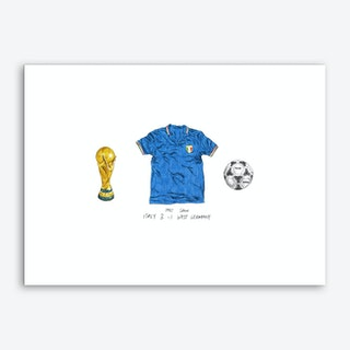 Italy World Cup 1982 Art Print