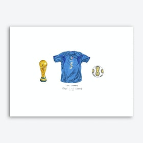 Italy World Cup 2006 Art Print