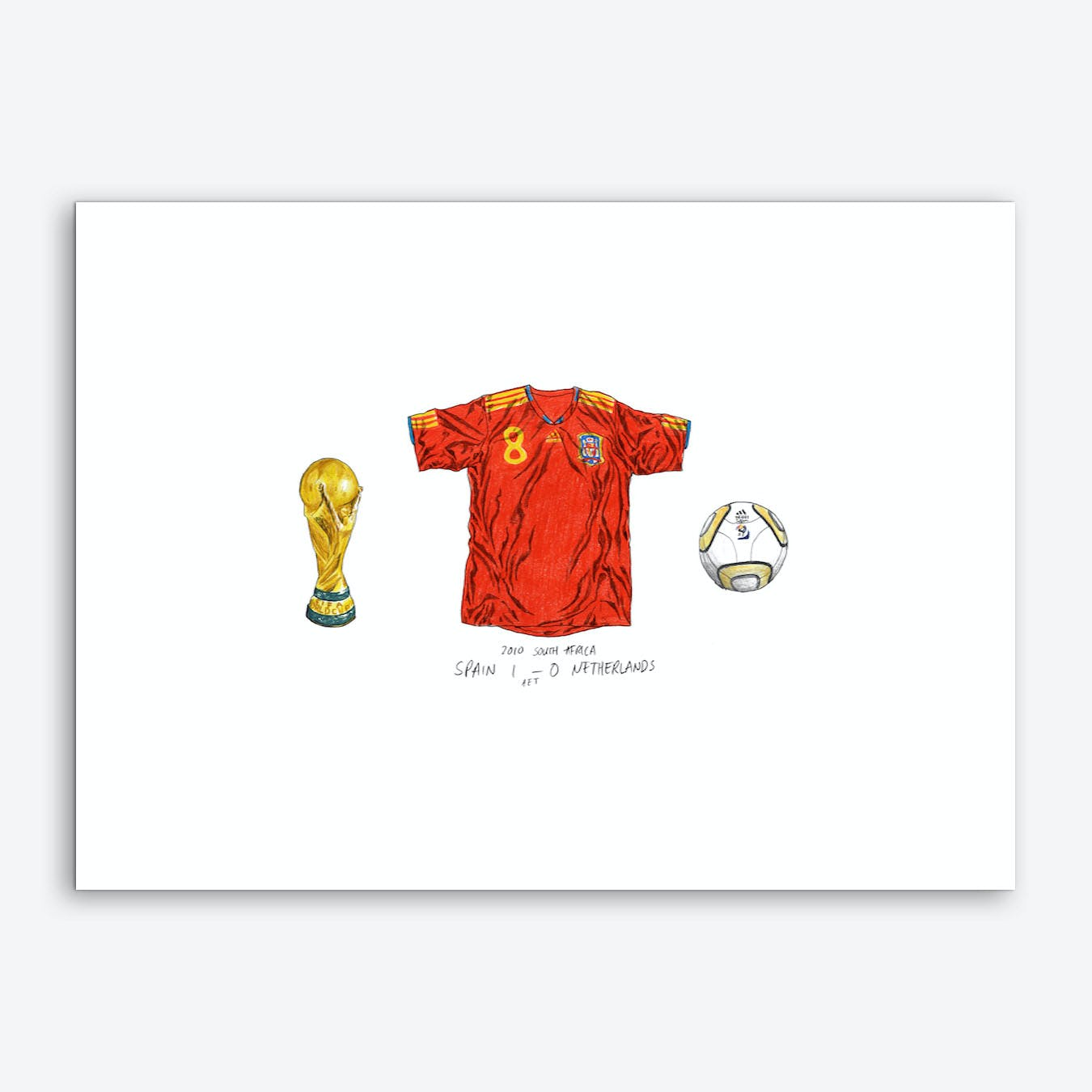 Spain World Cup Art Print
