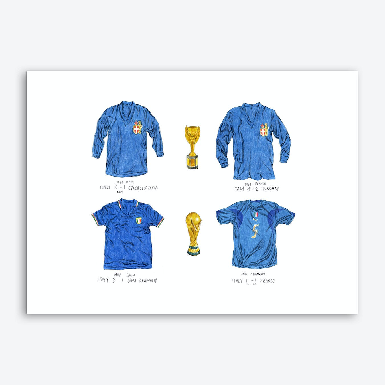 World Cup Winners Italy Art Print