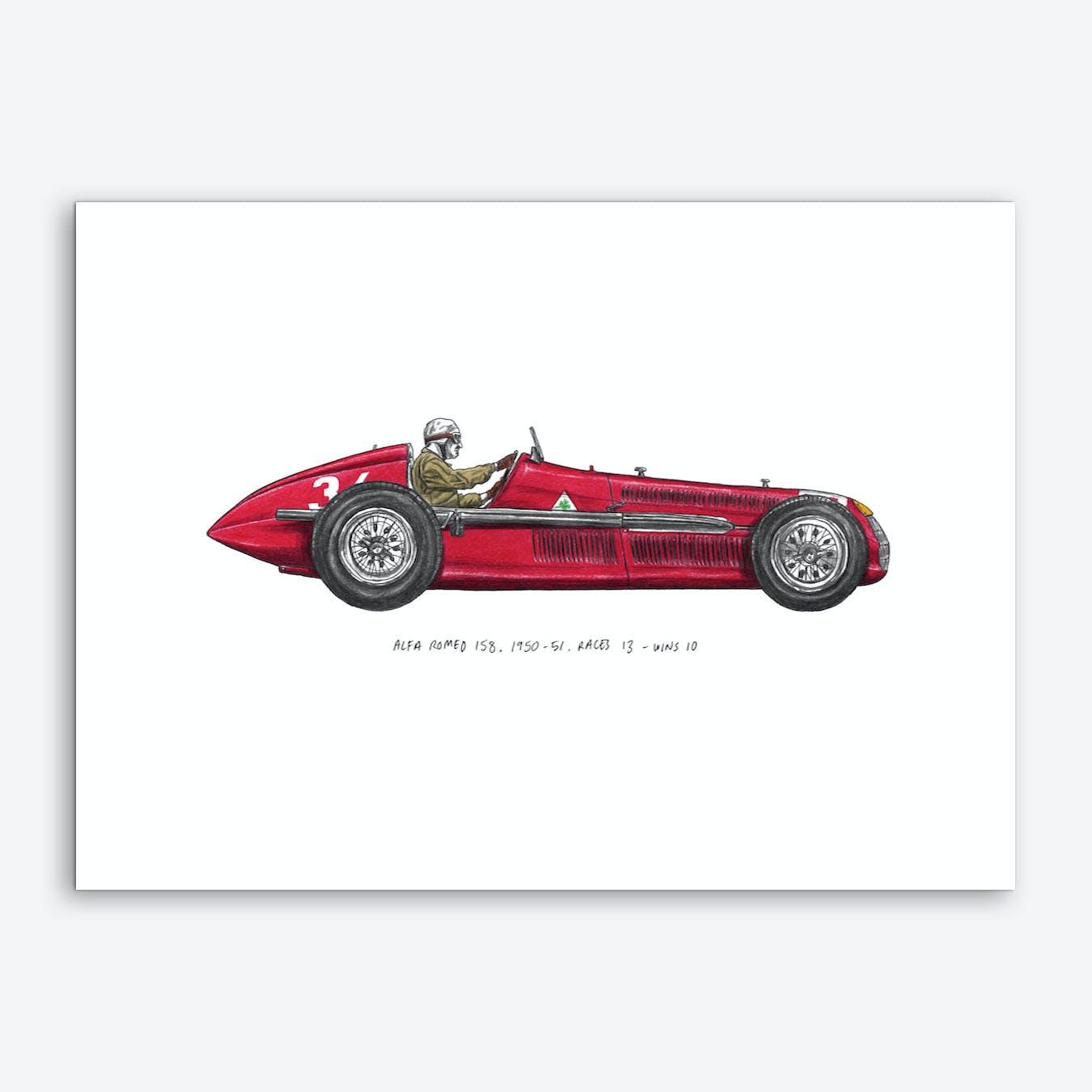 Alfa Romeo Car Art Print