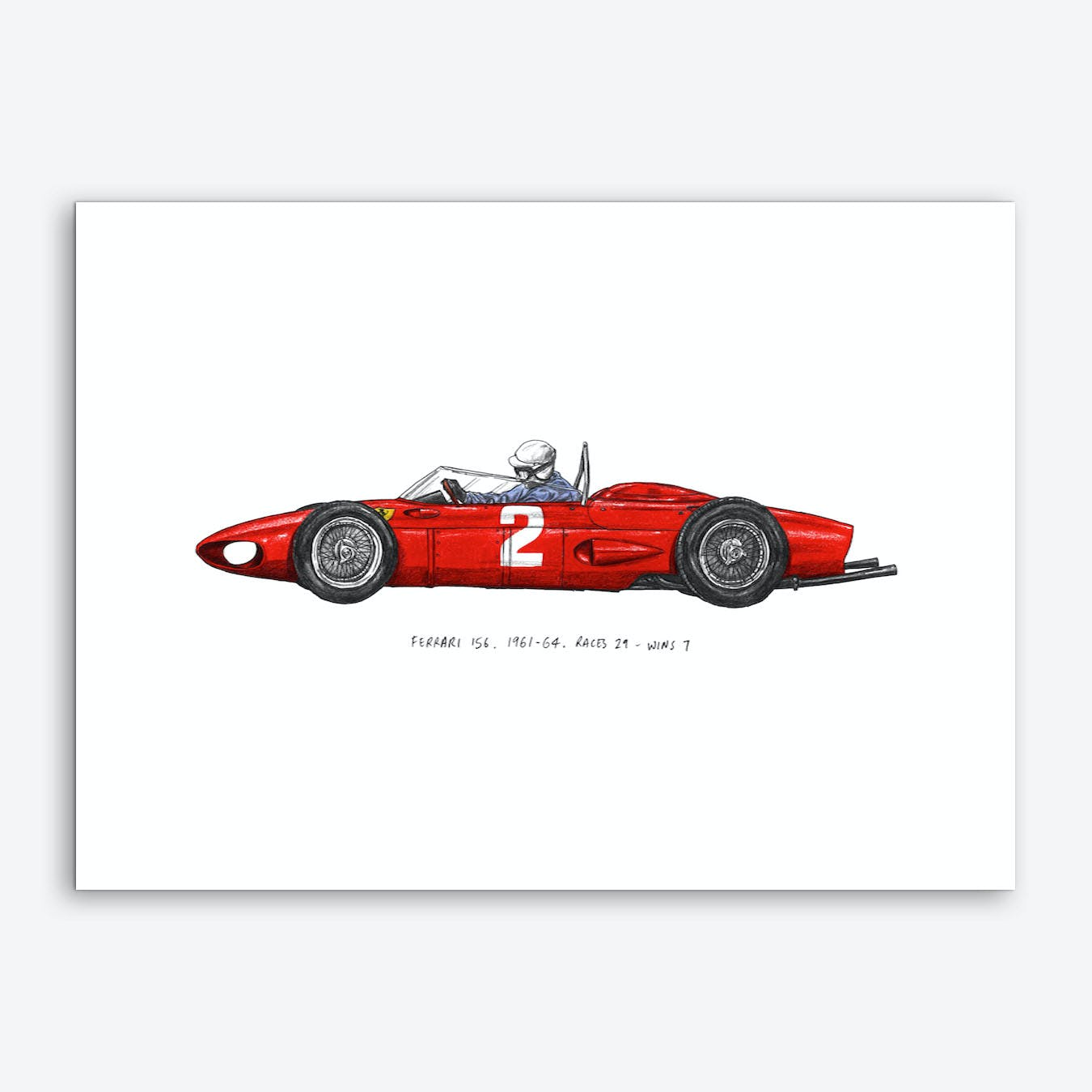 Ferrari Car Art Print