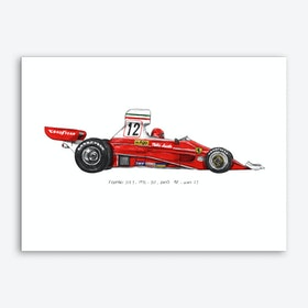 Ferrari 312T Car Art Print