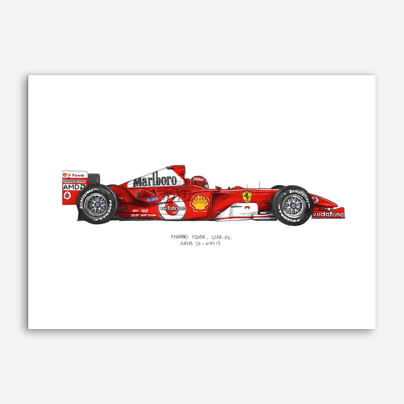 Ferrari F2004 Car Art Print