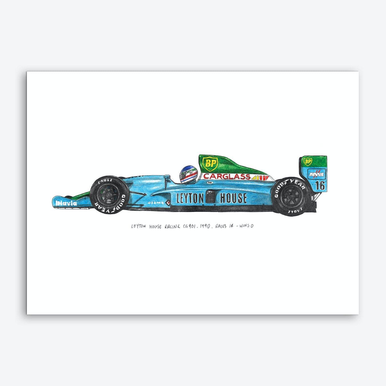 Leyton House Racing Car Art Print