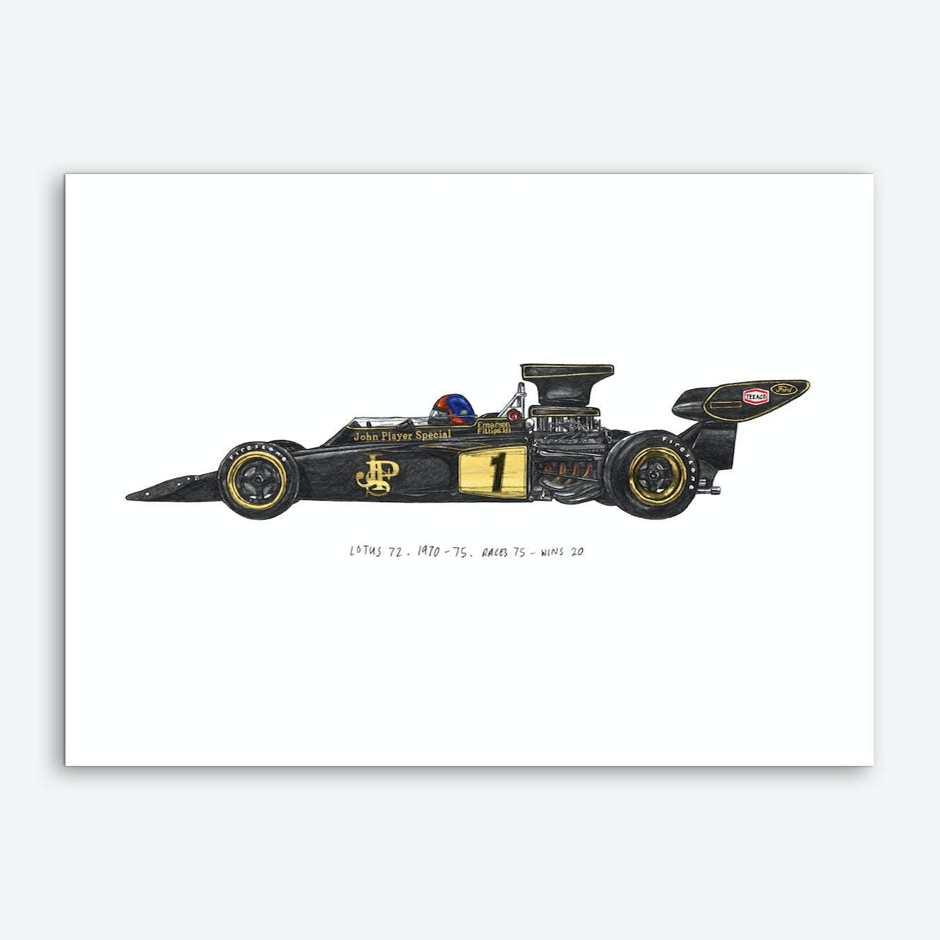 Lotus 72 Car Art Print