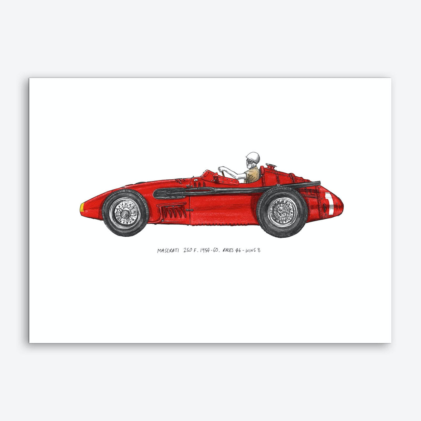 Maserati 250F Car Art Print