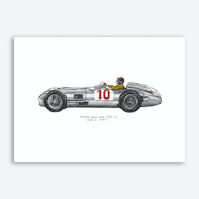Mercedez Benz W196 Car Art Print