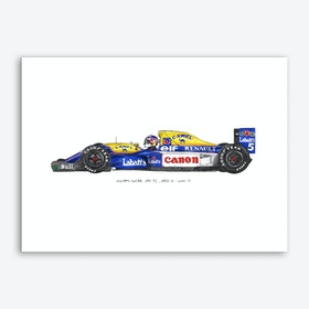 Williams FW14B Car Art Print