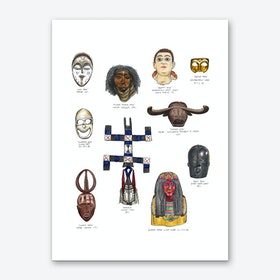 African and Middle Eastern Masks Art Print