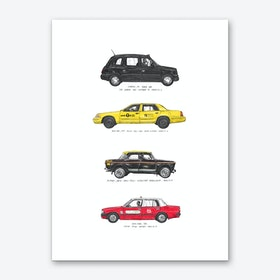 Big City Taxis of the World Art Print