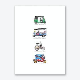 Three Wheeler Taxis of the World Art Print