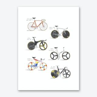 Track Bicycles Art Print
