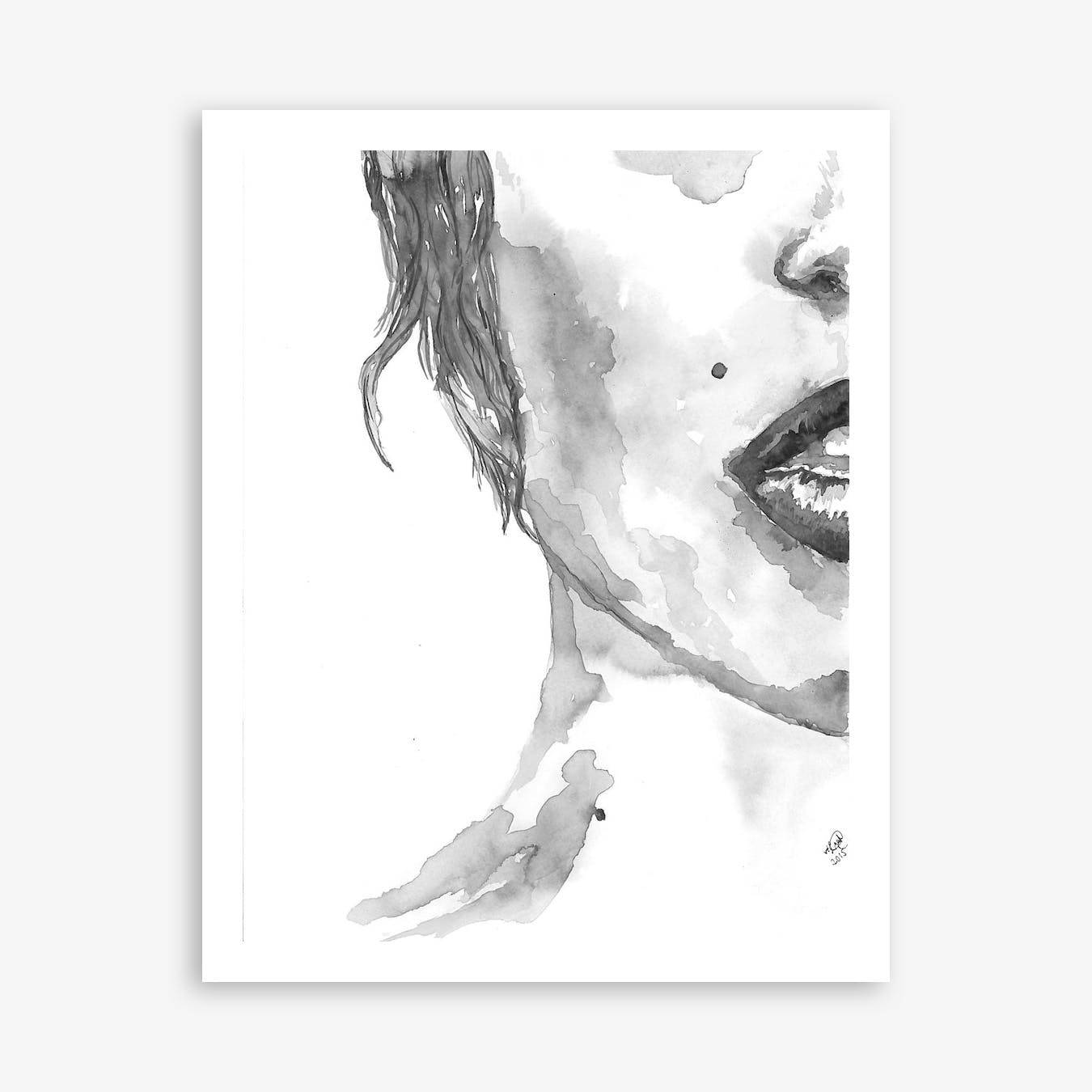 Halfportrait Female Print