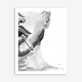 Halfportrait Male Art Print