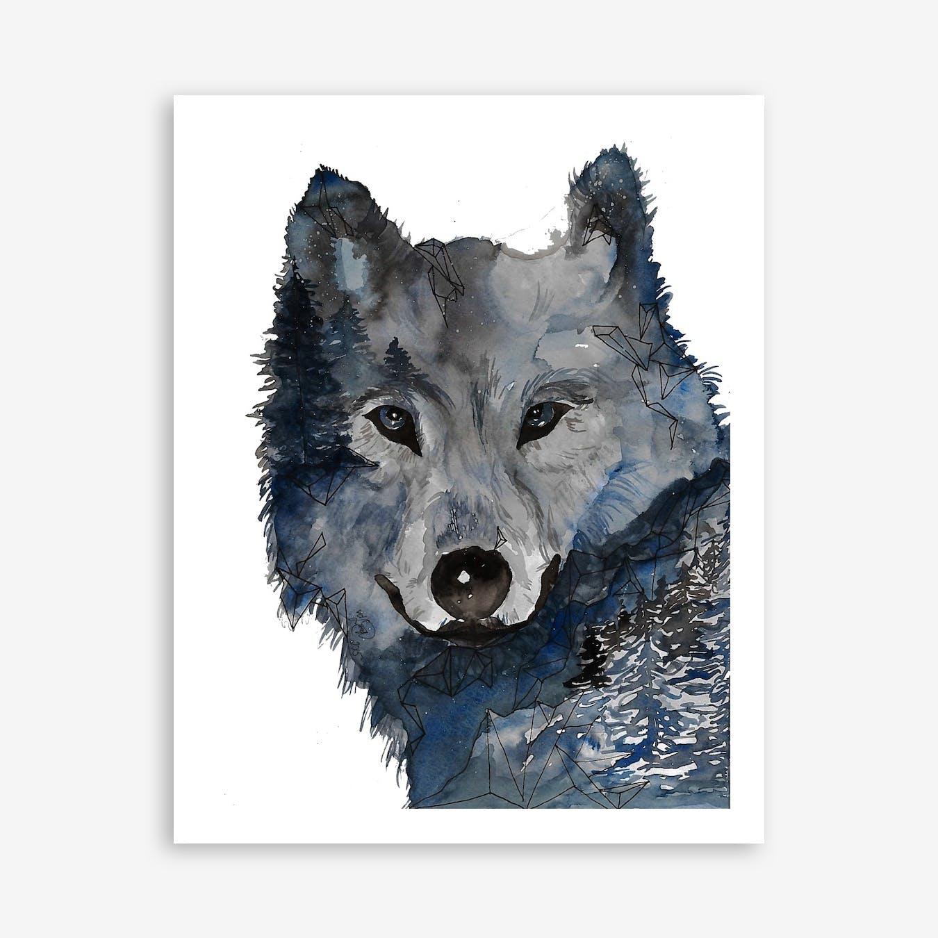 Night Wolf Print
