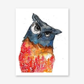 Owl I Art Print