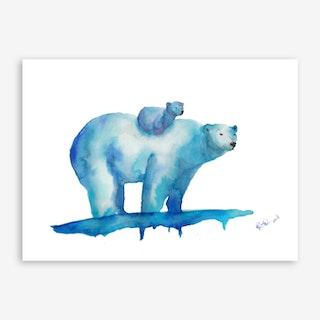 Polar Bears Art Print I