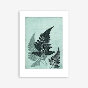 Fern River Green Print In 30cm x 40cm