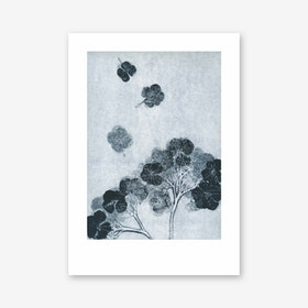 Hortensia Ink Art Print In 50cm x 70cm