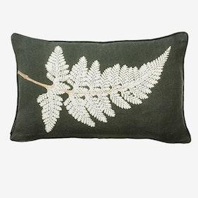 Fern White Small Cushion