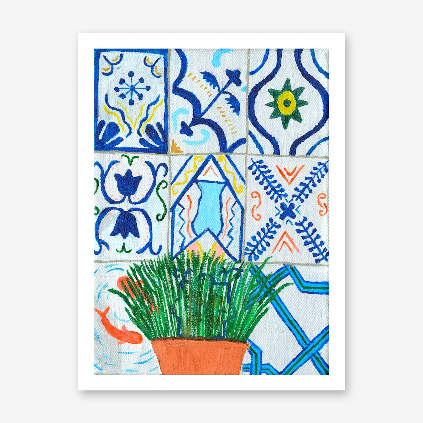 Holiday Plant, Holiday Tiles Print
