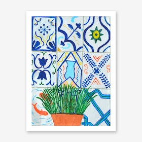 Holiday Plant, Holiday Tiles Art Print