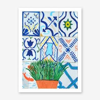 Holiday Plant, Holiday Tiles Art Print
