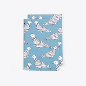 Polite Pigeon Notebook in A6 (Set of 2)