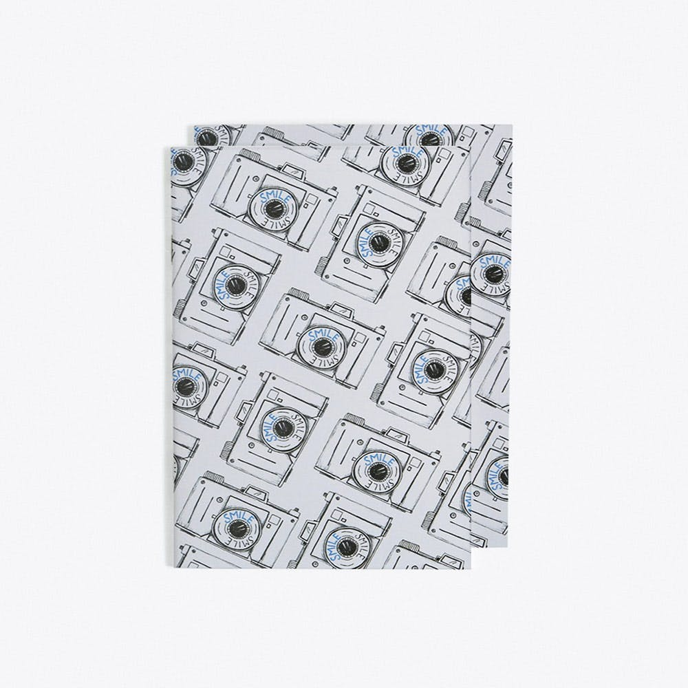 Smile Camera Notebook in A6 (Set of 2)