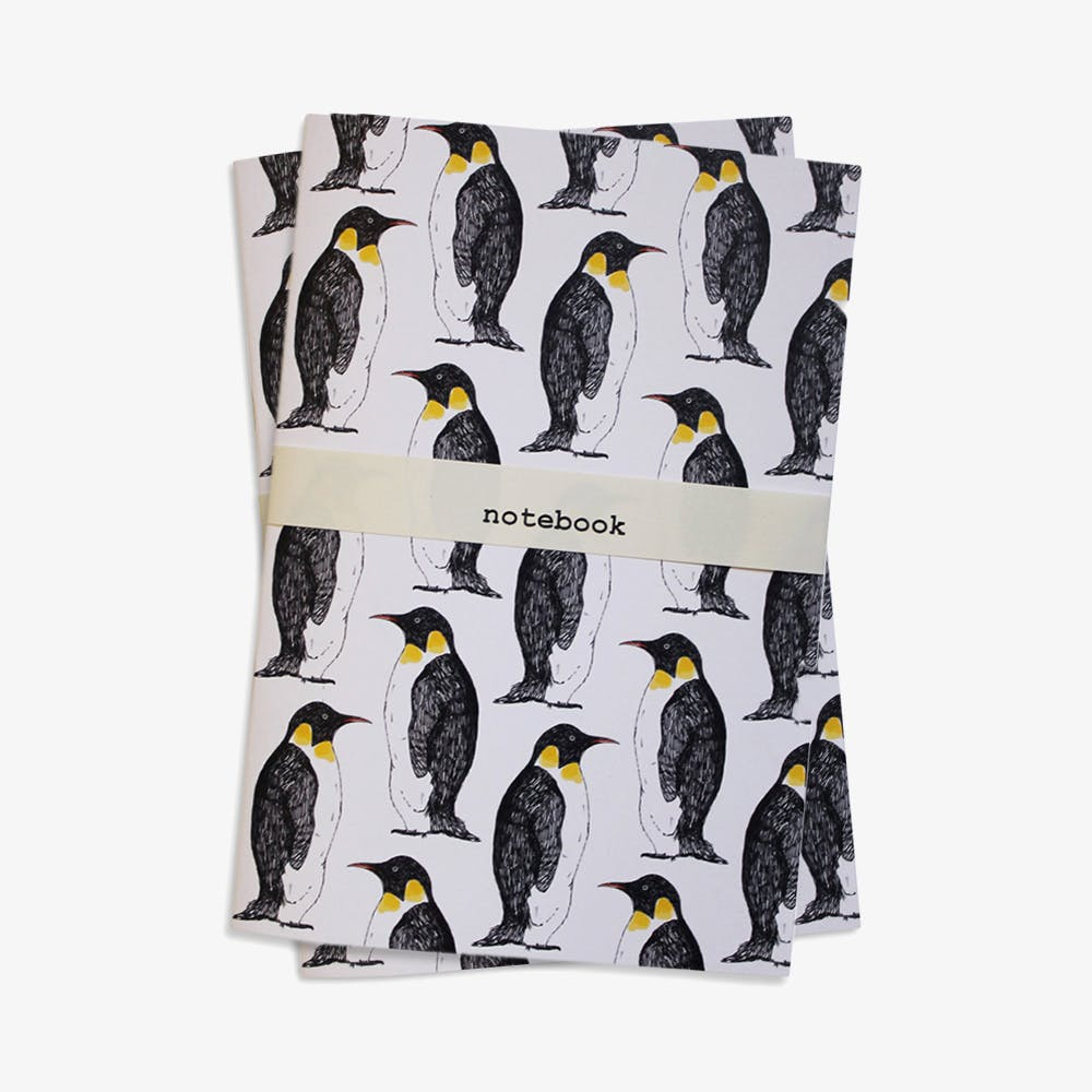 Penguin Party Notebook in A5 (Set of 2)
