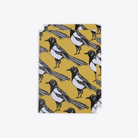 Mischievous Magpie Notebook in A6 (Set of 2)