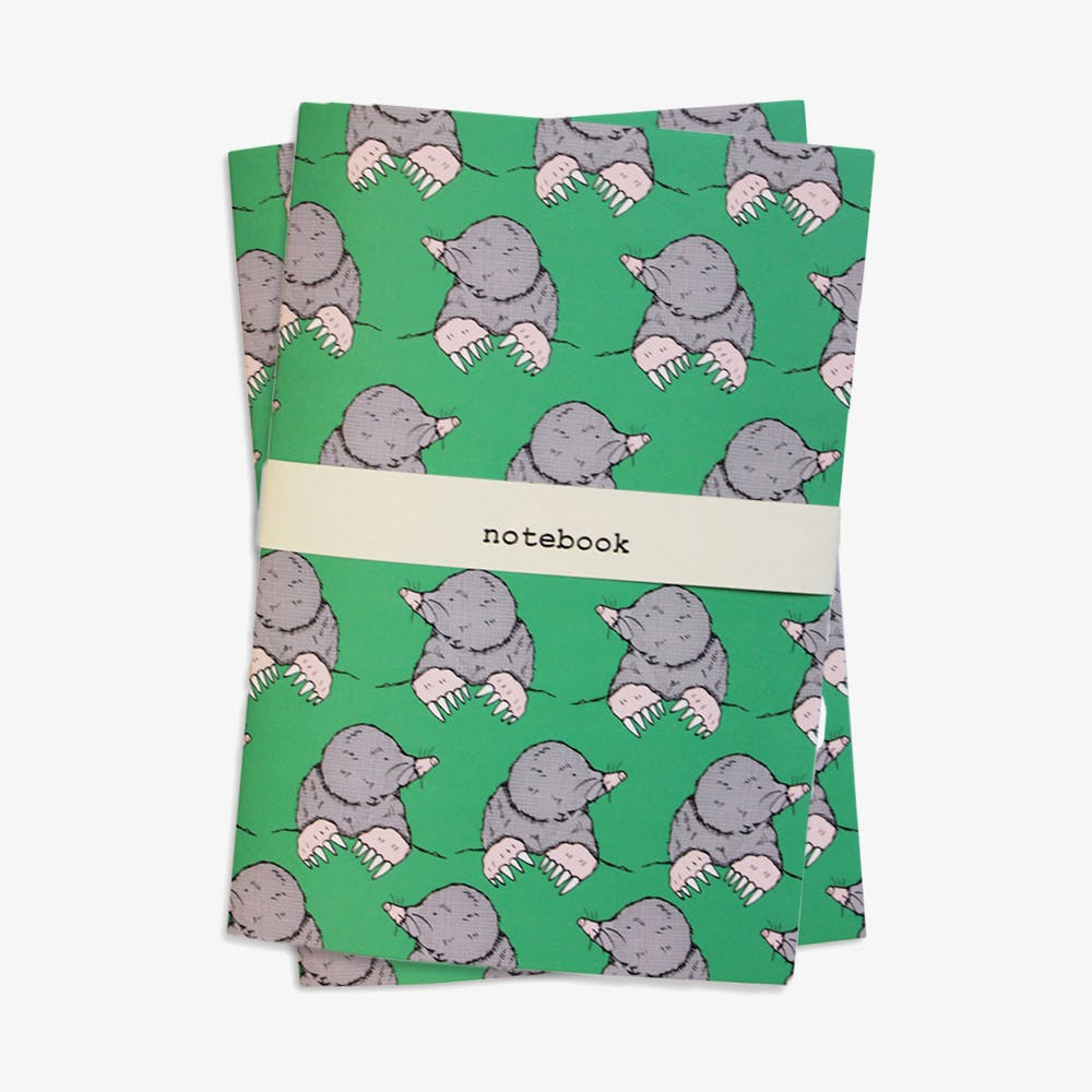 Molly Mole Notebook in A5 (Set of 2)