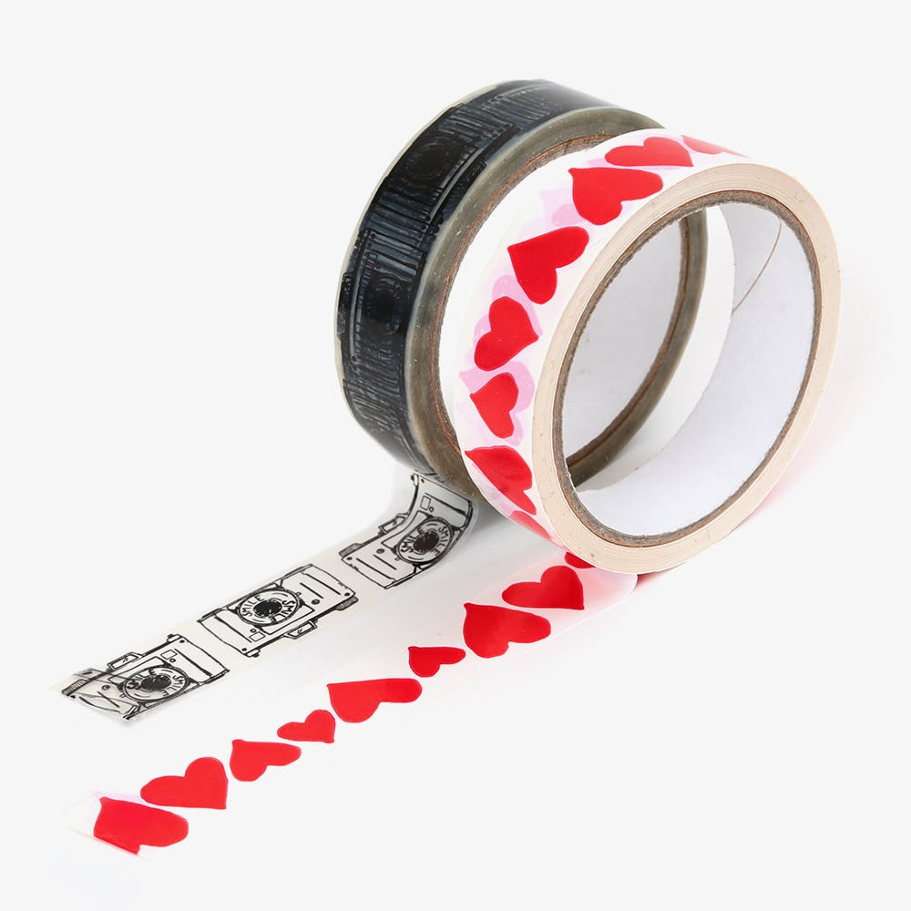 Packaging Tape, Hearts & Camera (Set of 2)