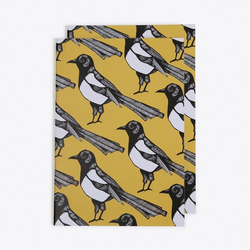 Mischievous Magpie Notebook in A5 (Set of 2)