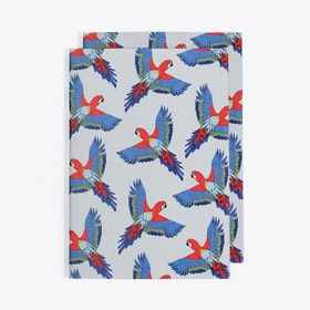 Majestic Macaw Notebook in A5 (Set of 2)