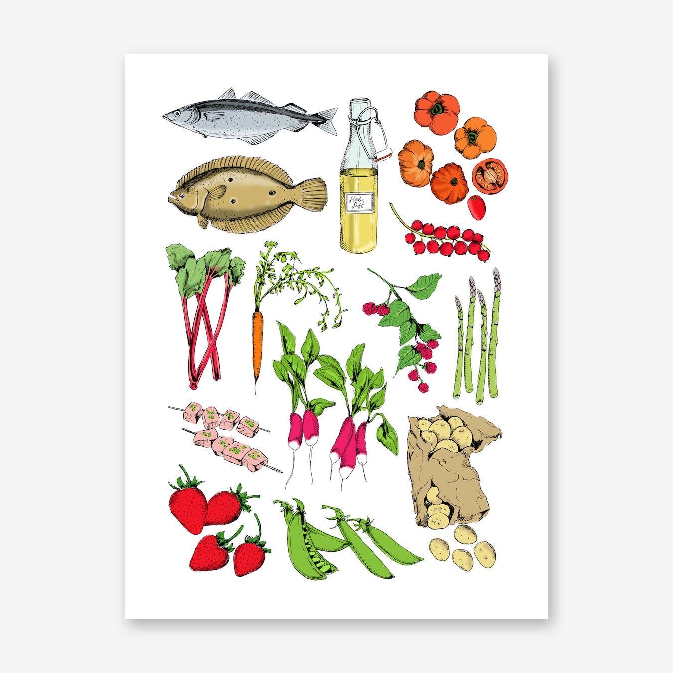 Ingredients Art Print