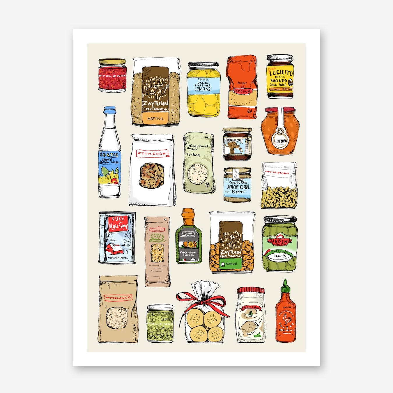 Ottolenghi Ingredients Art Print