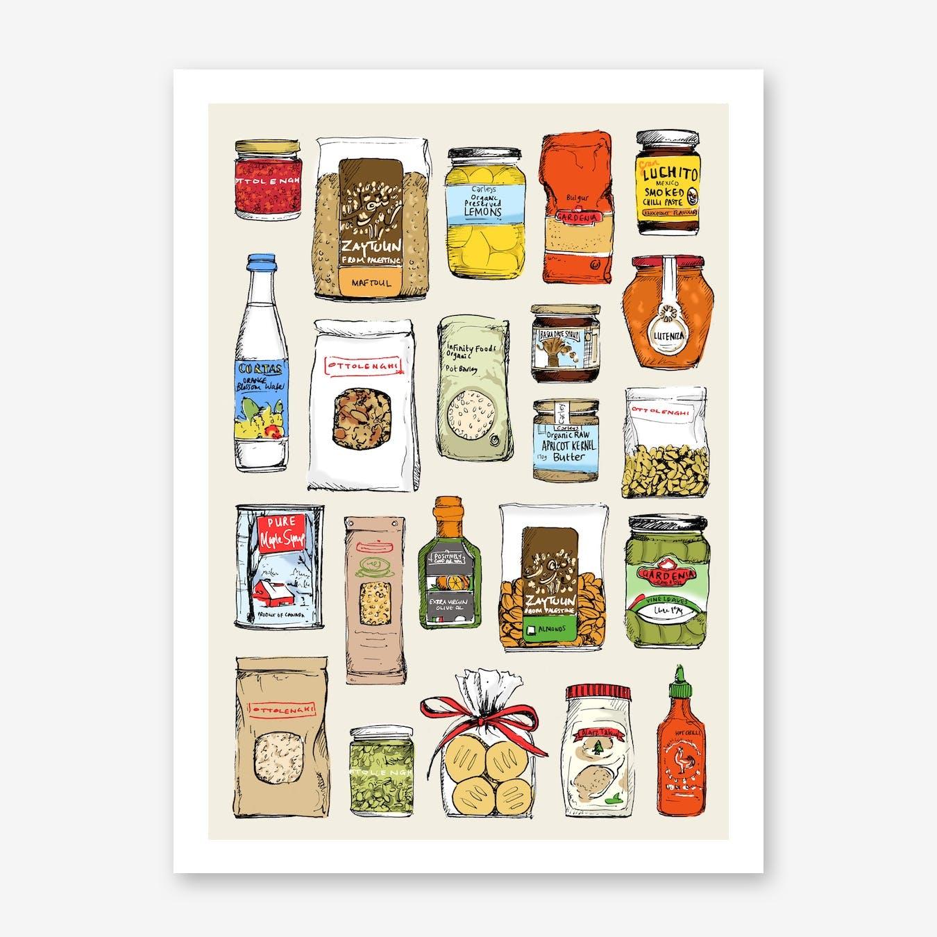 Ottolenghi Ingredients Art Print