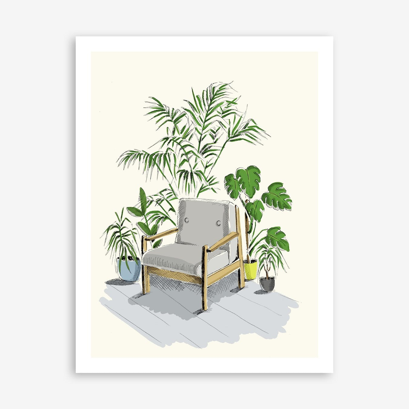Chair in A Corner Art Print