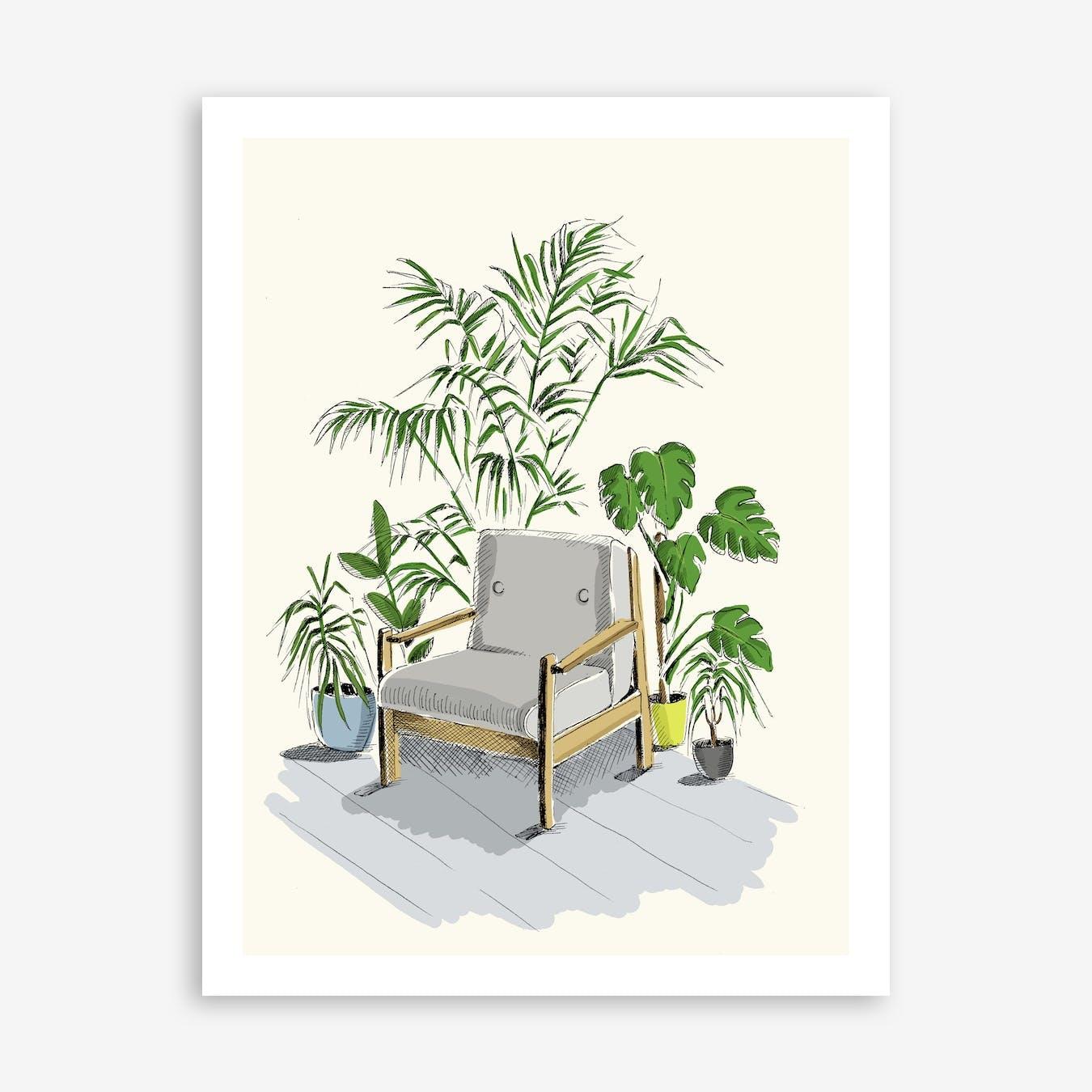 Chair in A Corner Art Print