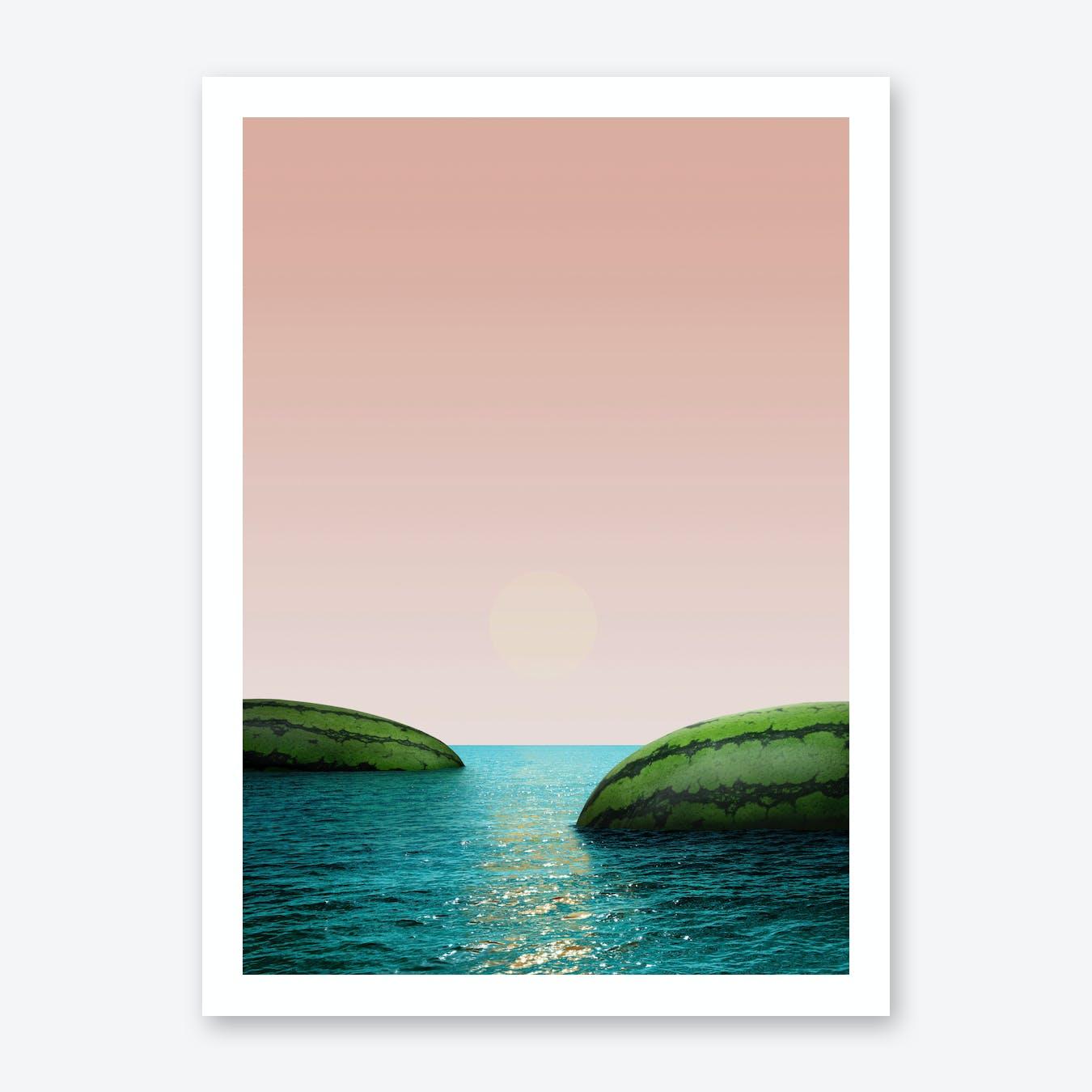 Melon Shore Art Print