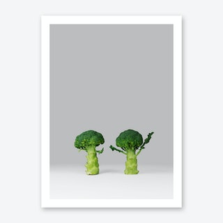 Arguing Broccolis Art Print