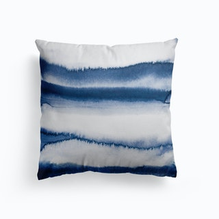 Watercolour In Navy Cushion
