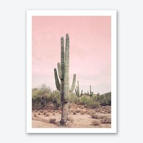 Blush Sky Desert Art Print