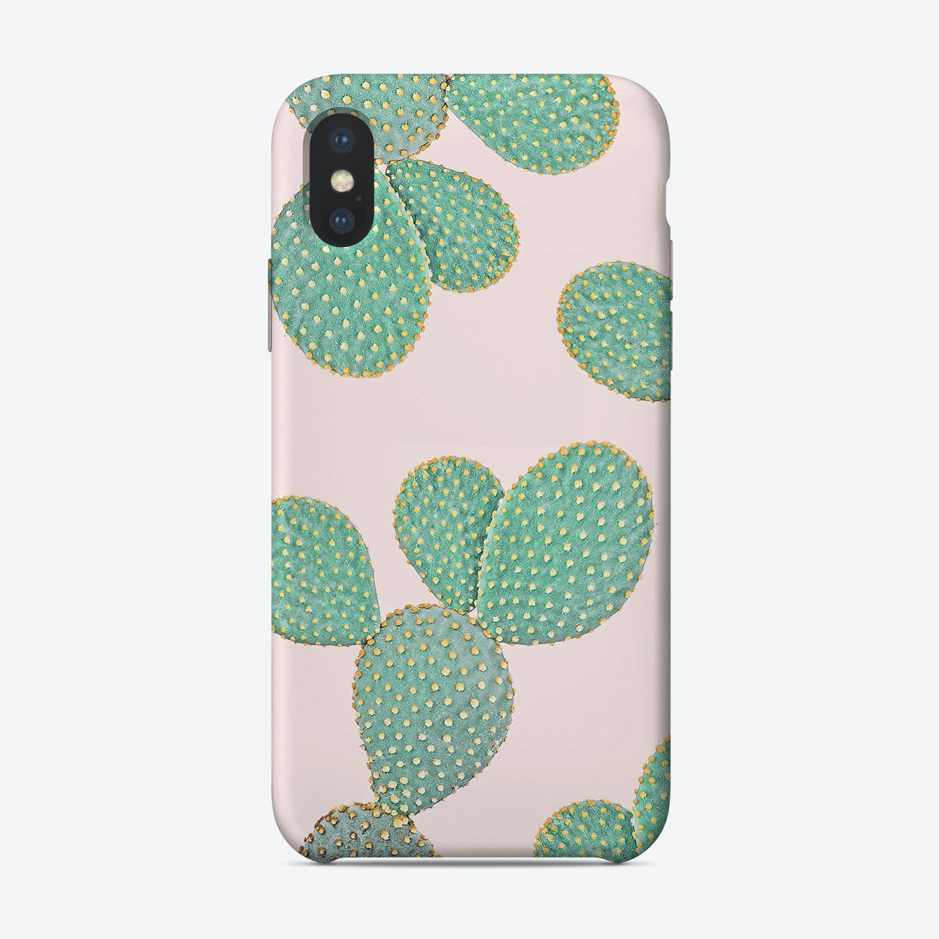 Cactus On Pink 2 iPhone Case