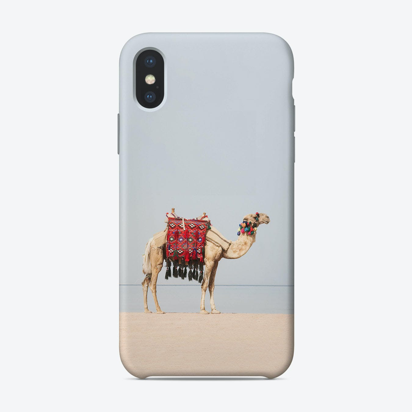 Camel in the desert iPhone Case
